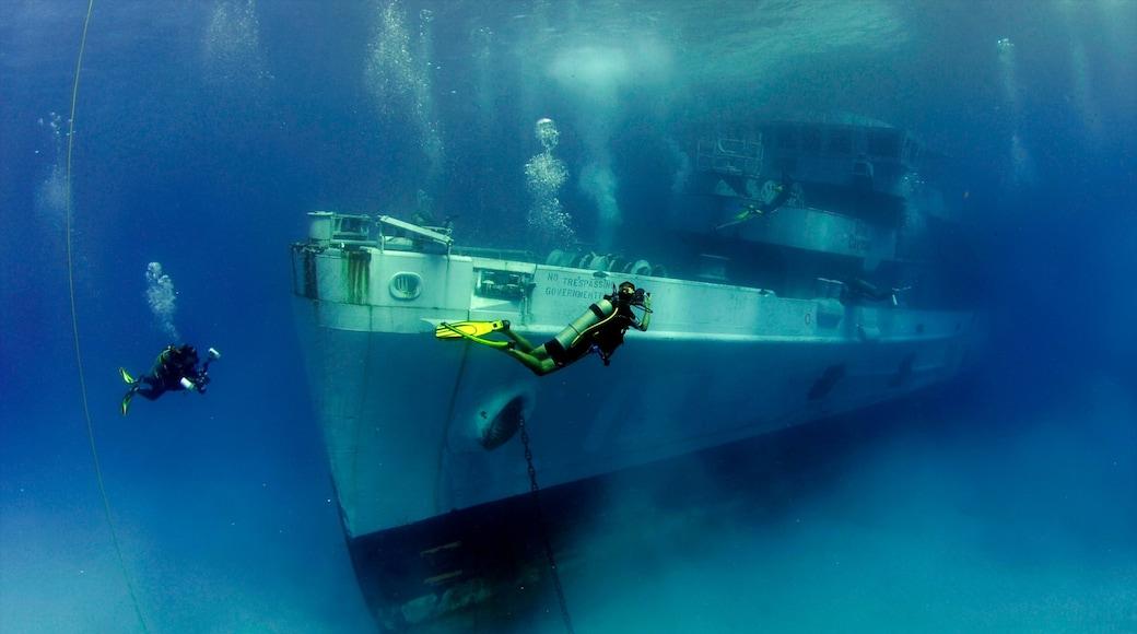 Grand Cayman showing scuba diving