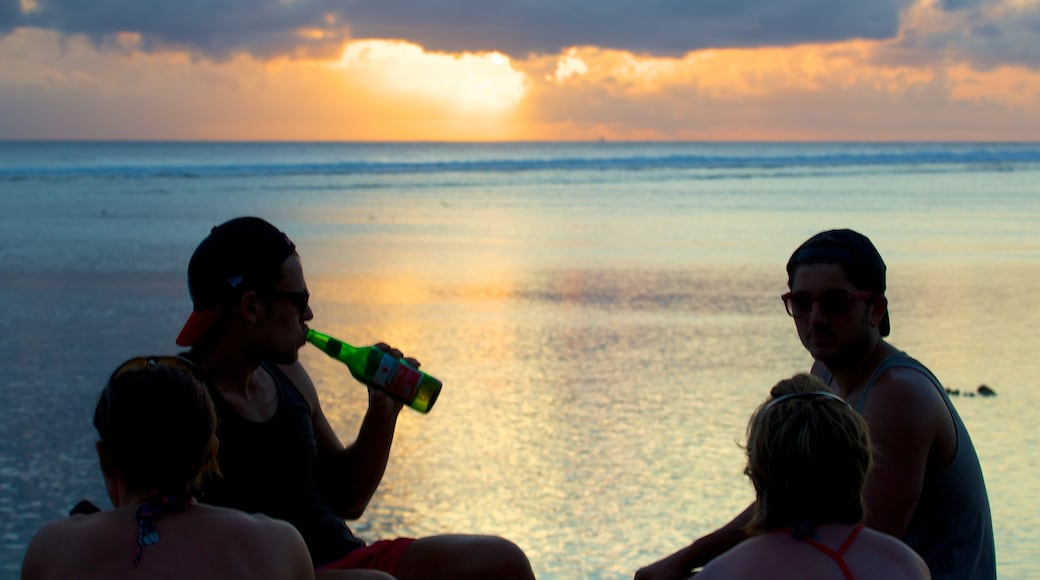Gili Islands showing landscape views, a sunset and general coastal views