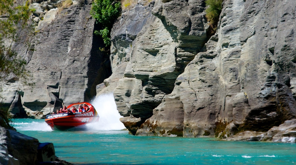 South Island which includes a river or creek, a gorge or canyon and boating
