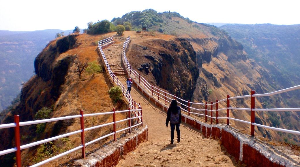 Mahabaleshwar featuring hiking or walking and mountains