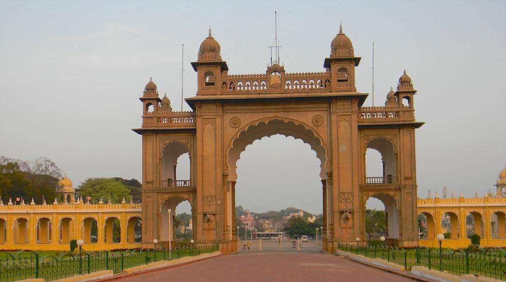 Mysore ofreciendo patrimonio de arquitectura