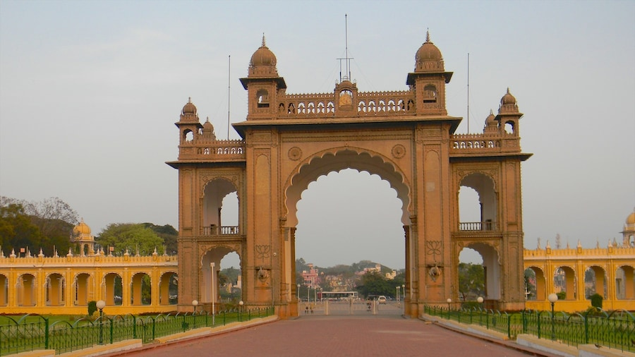 Mysore showing heritage architecture