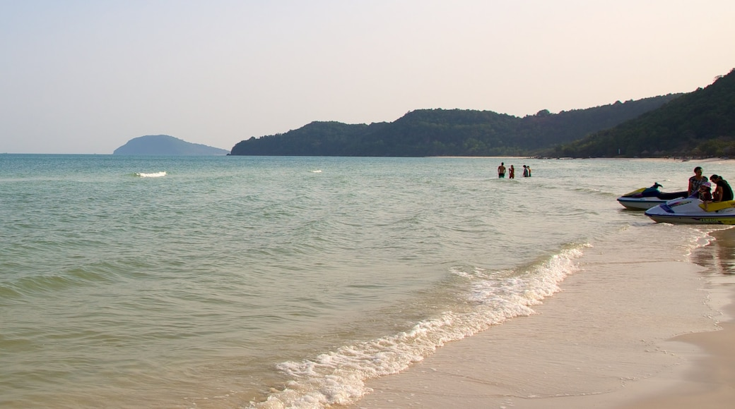 Vietnam showing a beach and jet skiing