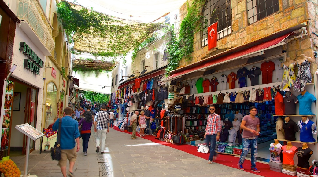 Bodrum showing street scenes, shopping and markets