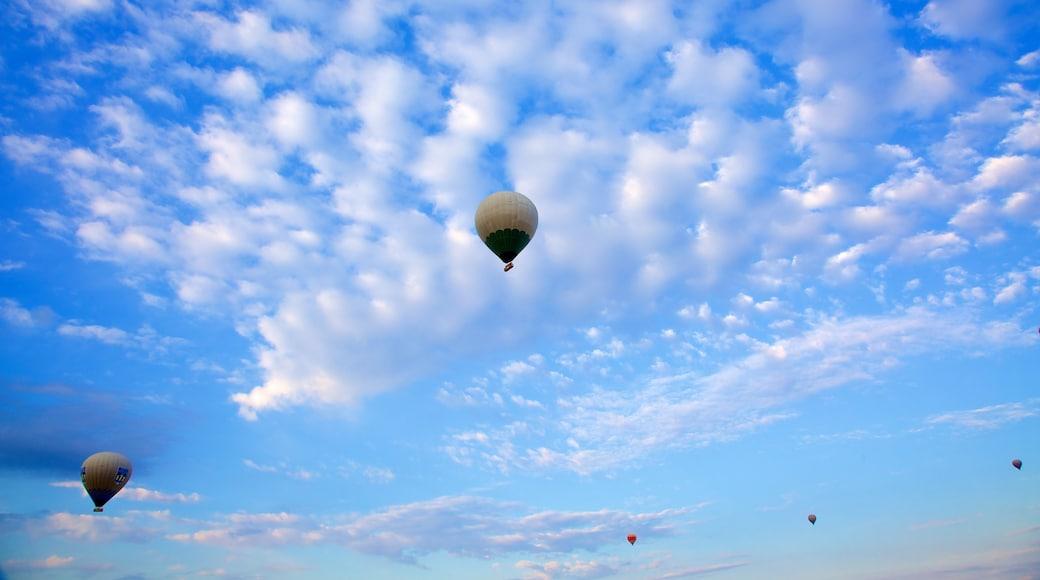 Cappadocia showing ballooning