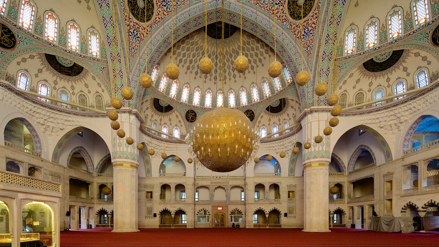 Kocatepe Mosque featuring interior views, a mosque and religious elements