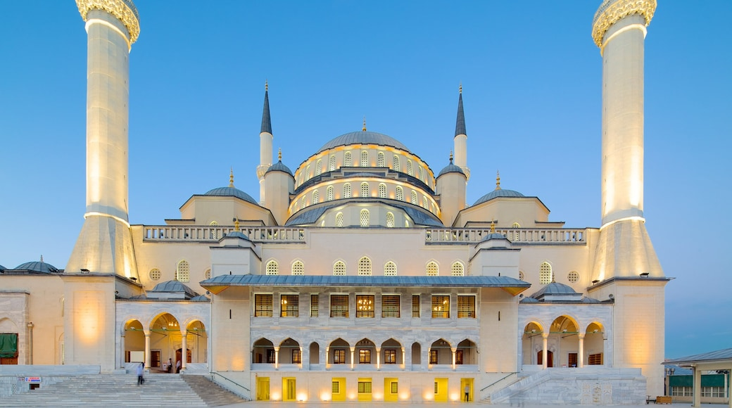 Kocatepe Mosque featuring a mosque, heritage architecture and religious elements