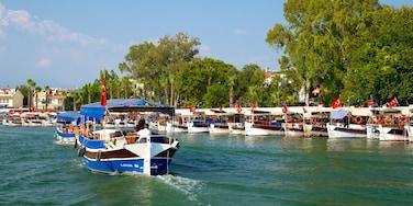 Dalyan showing boating and a marina