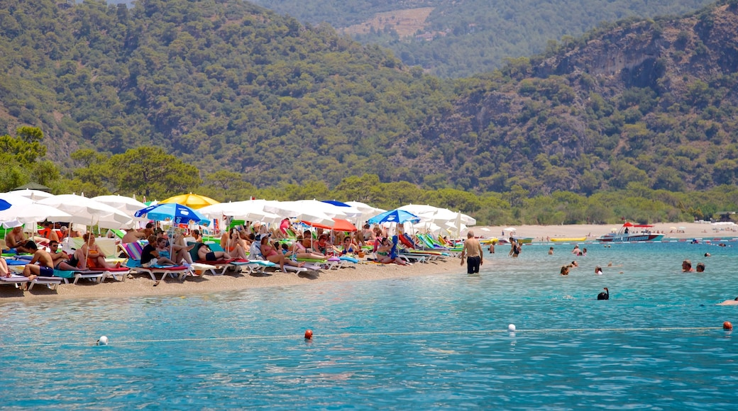 Oludeniz showing swimming and a sandy beach