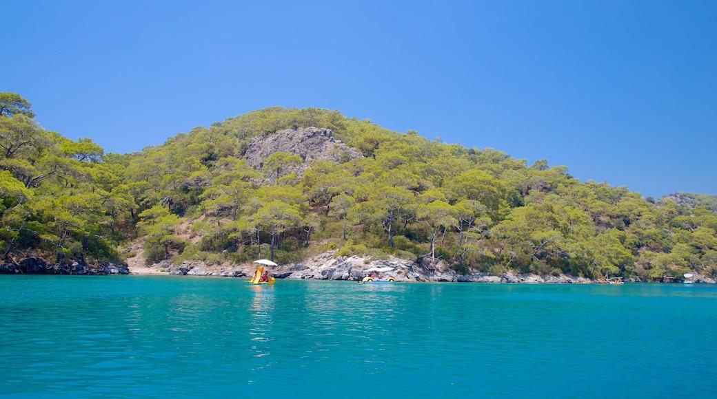 Oludeniz which includes rocky coastline