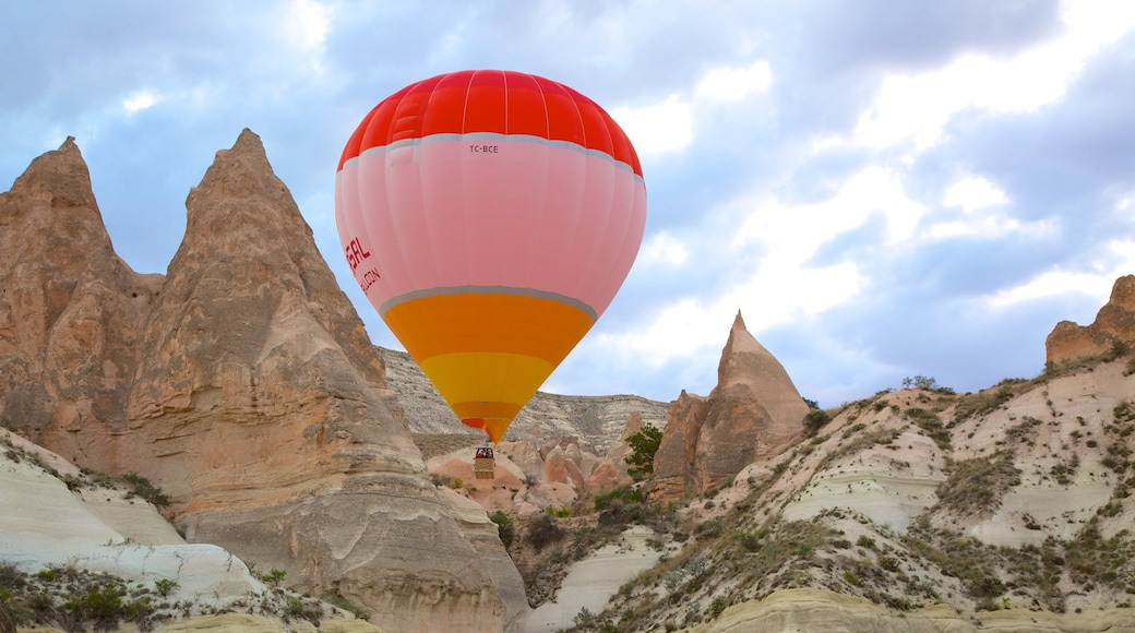 Nevsehir featuring ballooning and a gorge or canyon