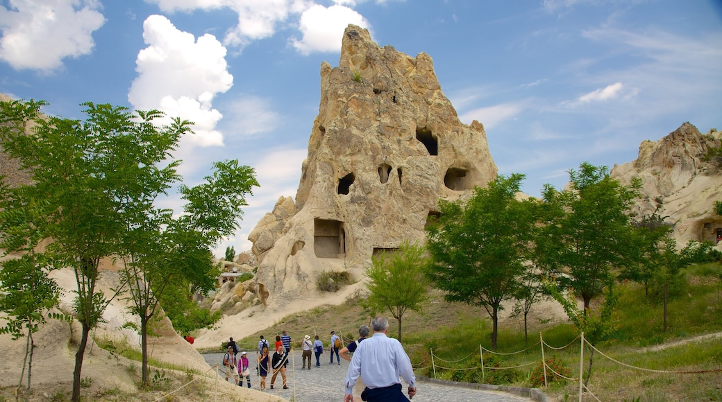 Goreme Open Air Museum featuring mountains