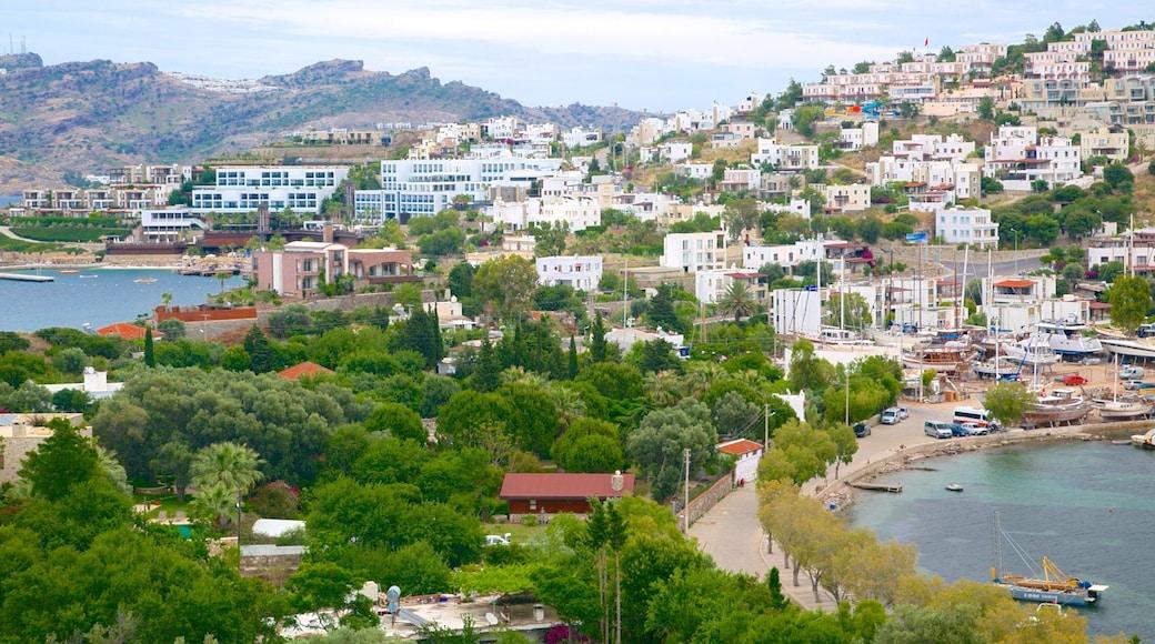 Yalikavak Beach featuring a coastal town