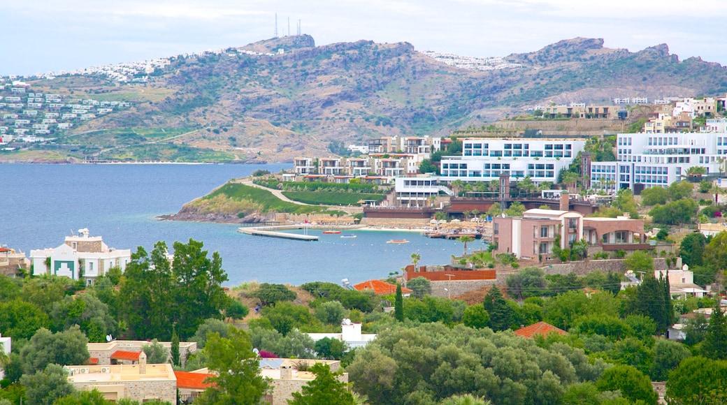 Yalikavak Beach showing a coastal town