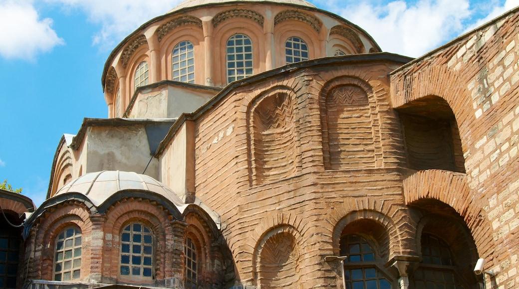 Igreja Chora que inclui arquitetura de patrimônio