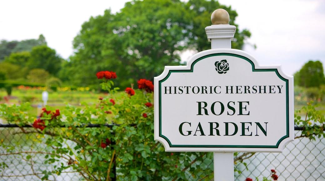 Hershey Gardens caracterizando sinalização