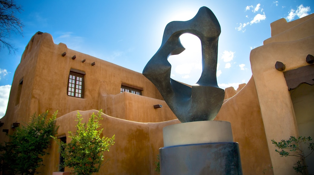 New Mexico Museum of Art showing a statue or sculpture and art