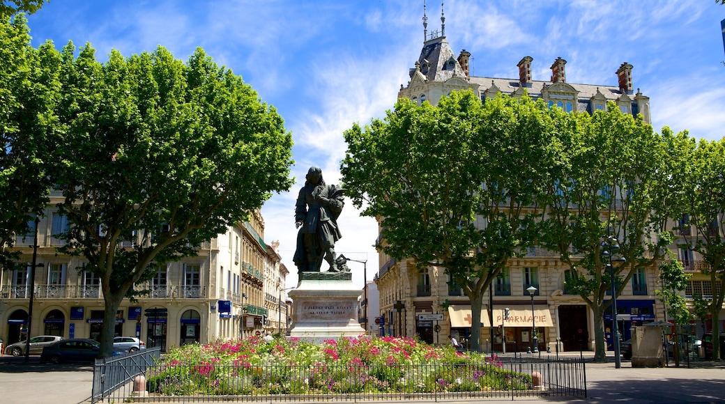Béziers mit einem Statue oder Skulptur, Garten und Gedenkstätte