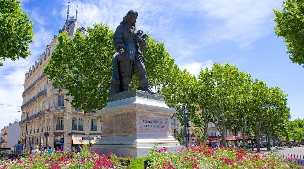 Béziers mit einem Park, Gedenkstätte und Statue oder Skulptur