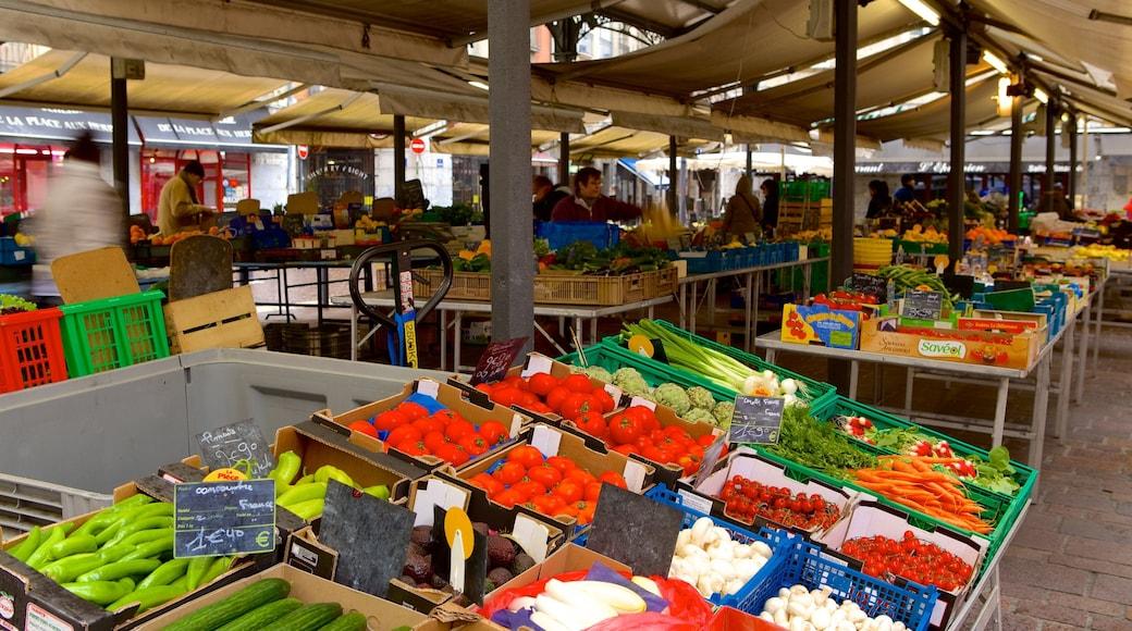 Grenoble mettant en vedette nourriture et marchés