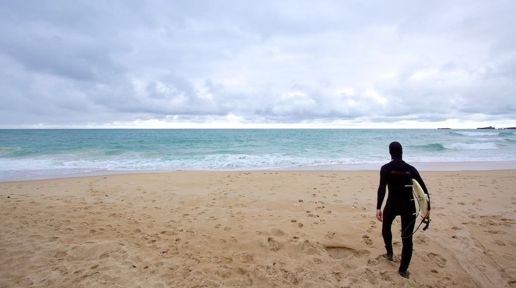Plage de Marbella montrant plage aussi bien que homme
