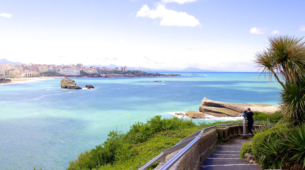 Biarritz Lighthouse featuring views and general coastal views