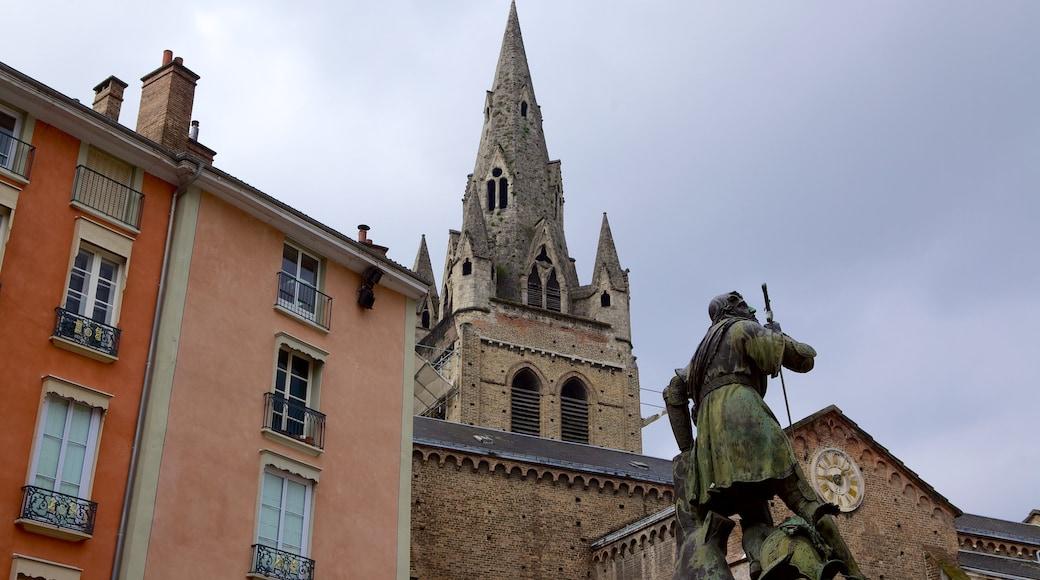 Grenoble das einen historische Architektur und Straßenszenen