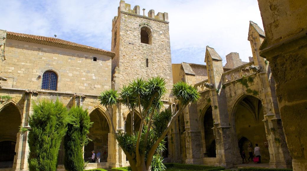 Narbonne mit einem Palast oder Schloss und historische Architektur