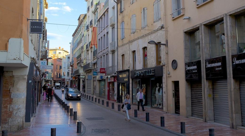 Perpignan which includes street scenes