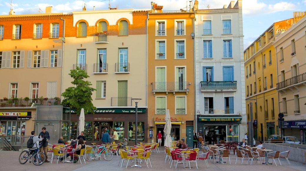 Perpignan showing outdoor eating, cafe scenes and street scenes