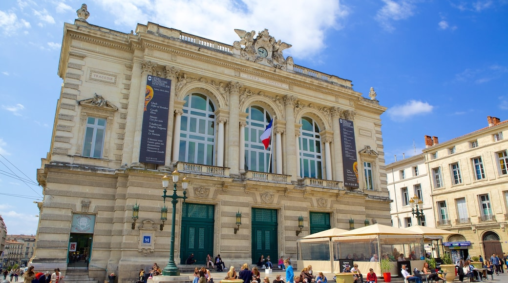 Opéra mettant en vedette patrimoine architectural et scènes de rue aussi bien que important groupe de personnes