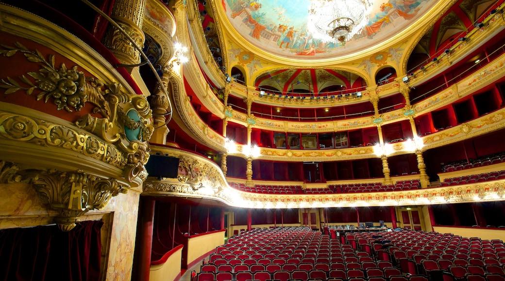 Opéra qui includes scènes de théâtre, patrimoine historique et vues intérieures