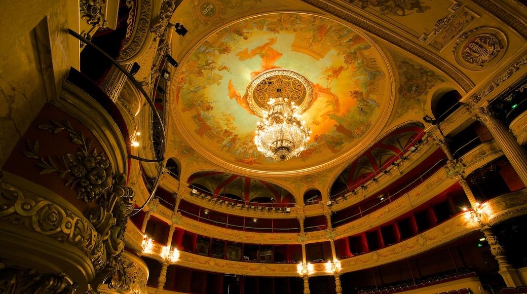 Opera mit einem Theater, historische Architektur und Innenansichten