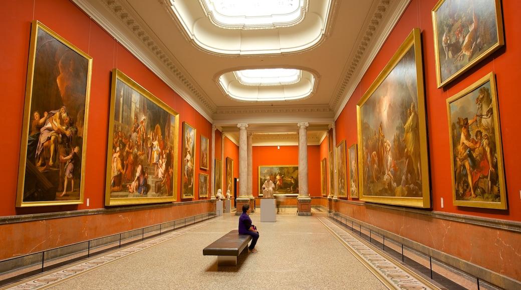 Musee Fabre welches beinhaltet Innenansichten und Kunst