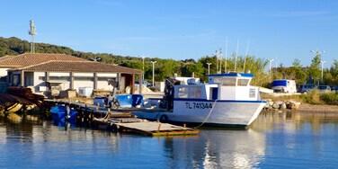 Provence mettant en vedette rivière ou ruisseau, navigation et baie ou port