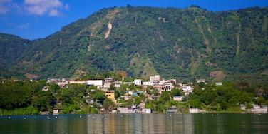 San Juan La Laguna featuring a lake or waterhole and mountains