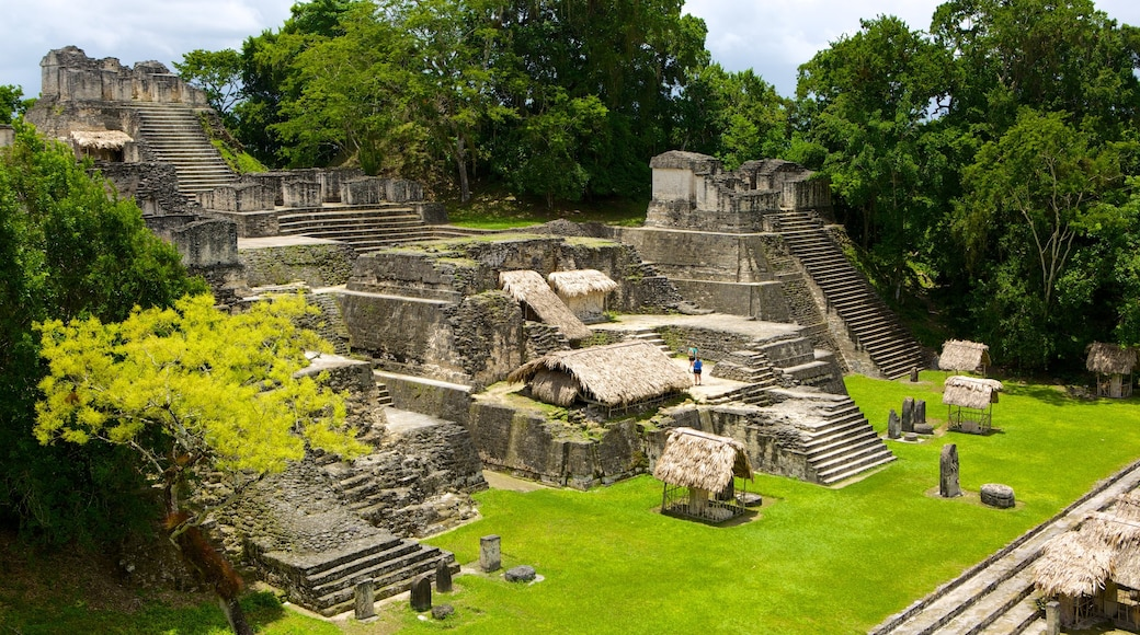 Tikal featuring heritage elements, a ruin and landscape views
