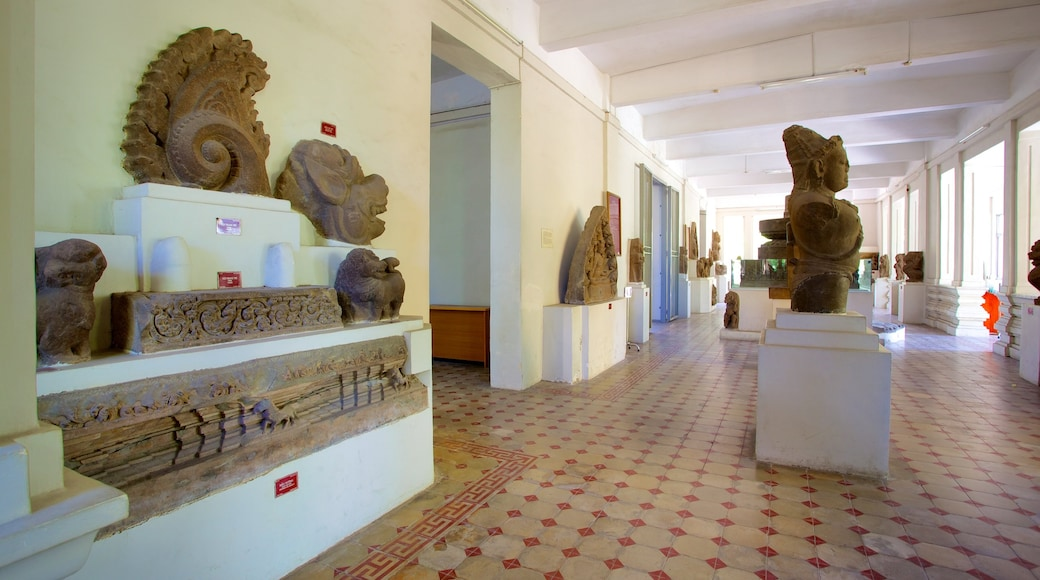 Museum of Cham Sculpture featuring interior views, art and a statue or sculpture