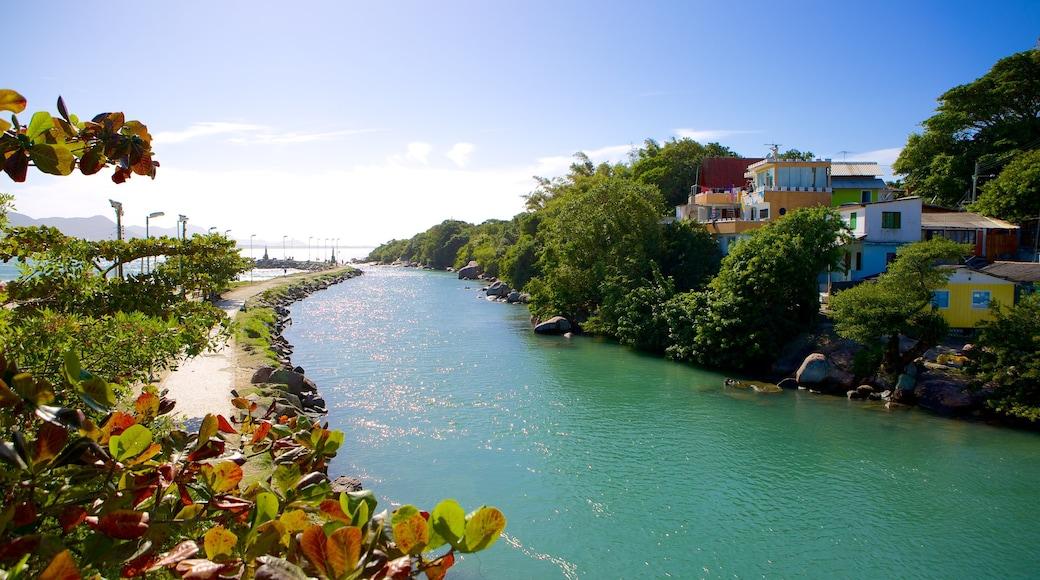 Barra da Lagoa Beach which includes landscape views and a river or creek
