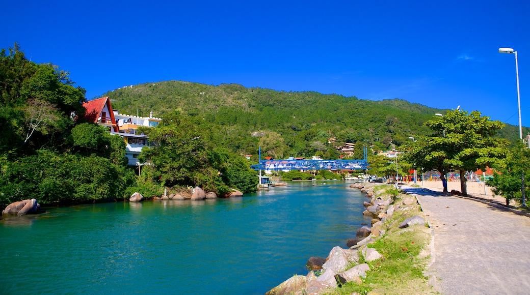 Barra da Lagoa Beach showing a river or creek