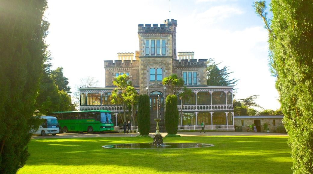 Larnach Castle which includes a castle and a park