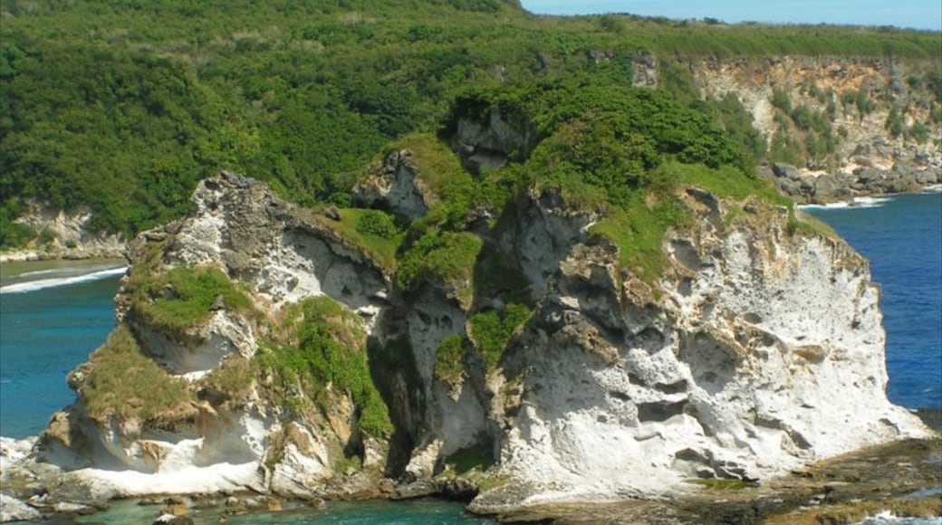 Saipan which includes landscape views and rugged coastline