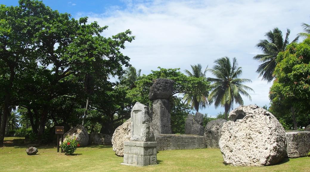 Saipan mettant en vedette jardin et art en plein air