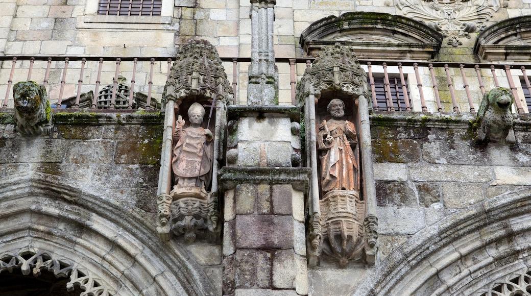 Cathédrale de Braga montrant patrimoine architectural, église ou cathédrale et aspects religieux