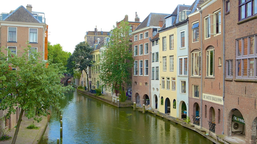 Utrecht showing a river or creek, a house and a small town or village