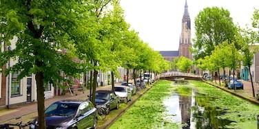 Delft qui includes rivière ou ruisseau et scènes de rue