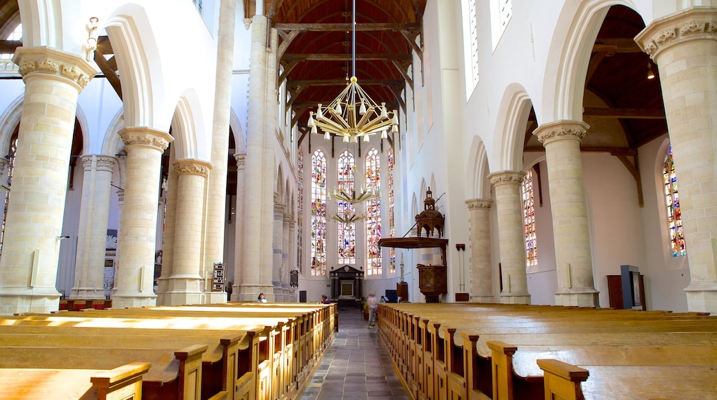 Oude Kerk featuring interior views, a church or cathedral and religious aspects