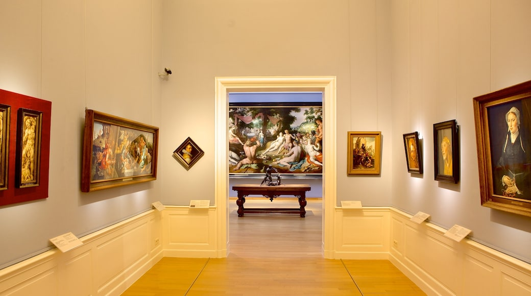 Frans Hals Museum featuring interior views and art