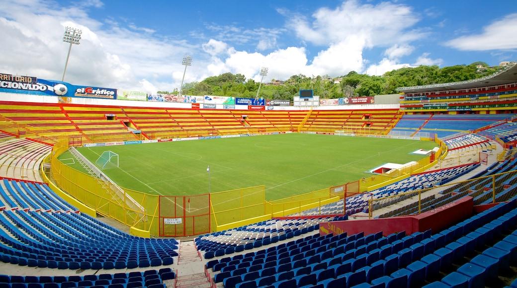 Estadio Cuscatlan featuring a sporting event