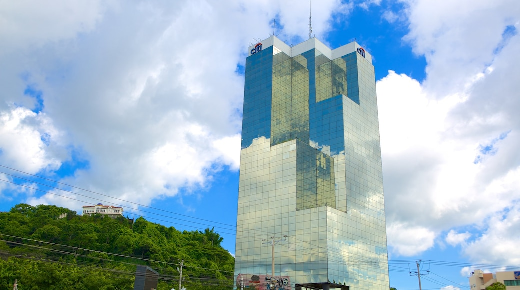 Torre Cuscatlan which includes modern architecture and a high-rise building